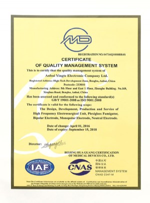 Quality management system certification 4